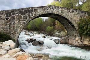 El puente romano de la villa de Jarandilla de la Vera.