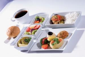 """Los menús a bordo """"veggies"""" cada vez son más frecuentes."""