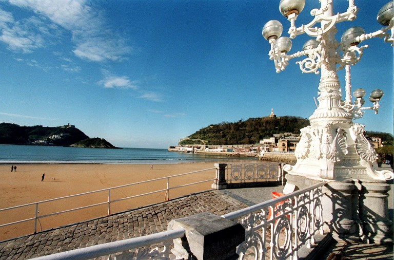 La emblemática Playa de la Concha de San Sebastián. Foto: Dominique Faget