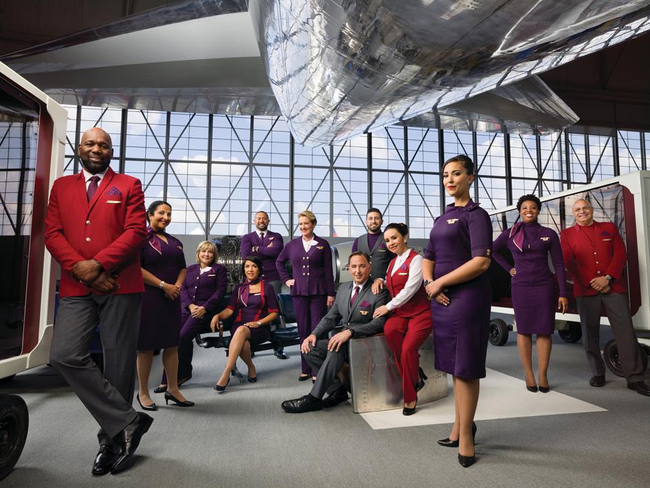 Ciruela y gris los nuevos colores para las tripulaciones de Delta, rojo y gris para el personal de tierra.