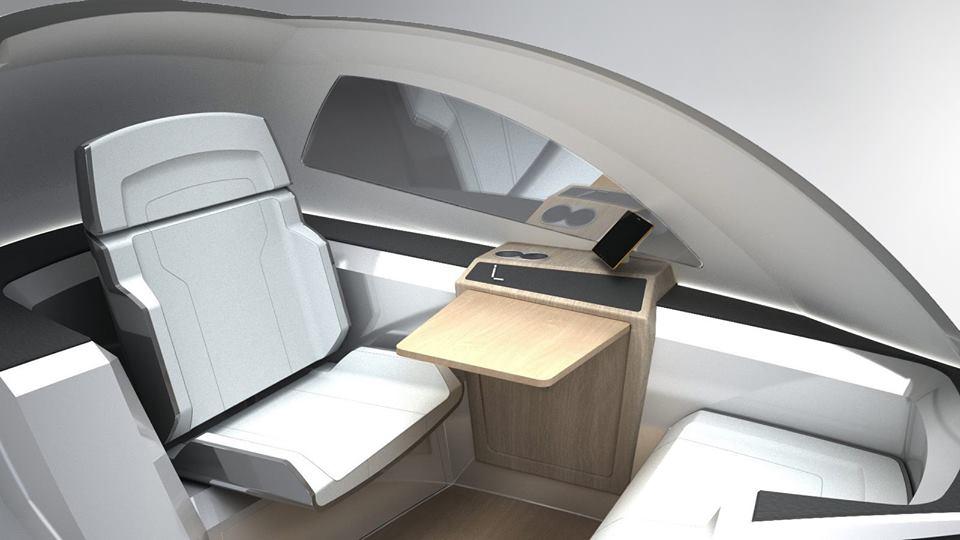 Interior de la cabina.