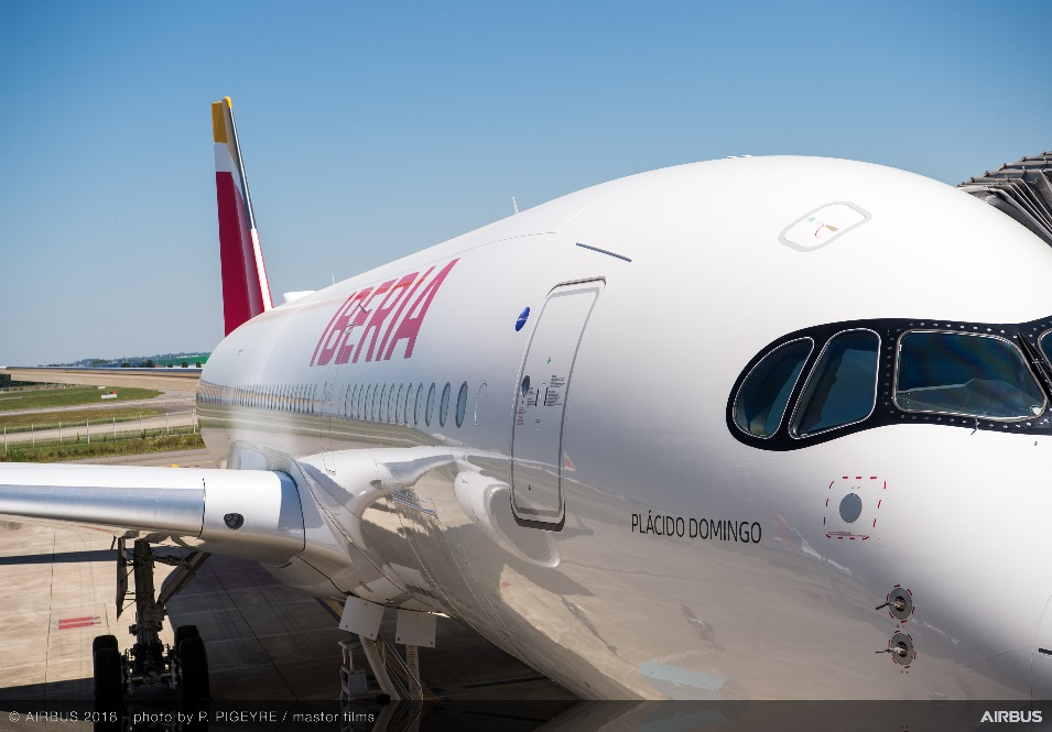 Airbus A350 bautizado Plácido Domingo