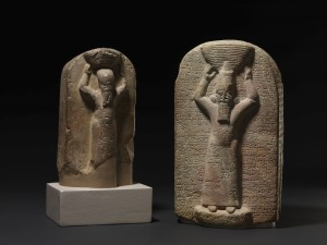 Figuras de Ashurbanipal (derecha) y su hermano Shamash-shum-ukin (izquierda). 668 - 655 aC. Foto: Museo Británico
