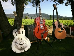 En verano en la terraza de Domaine de la Cavale dan pequeños conciertos. Foto: Domaine de la Cavale