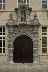 Fachada de la remodelada Casa Snijders&Rockox. Foto: (c) Erwin Donvil