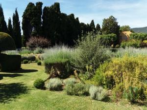 Jardines de las casas de campo.