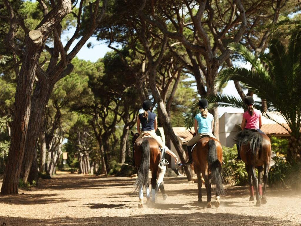 La equitación es otro de los puntos fuertes del hotel.
