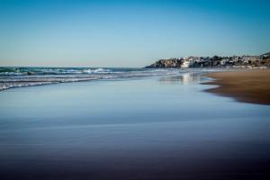 Playa en la bahía de Tamuda.