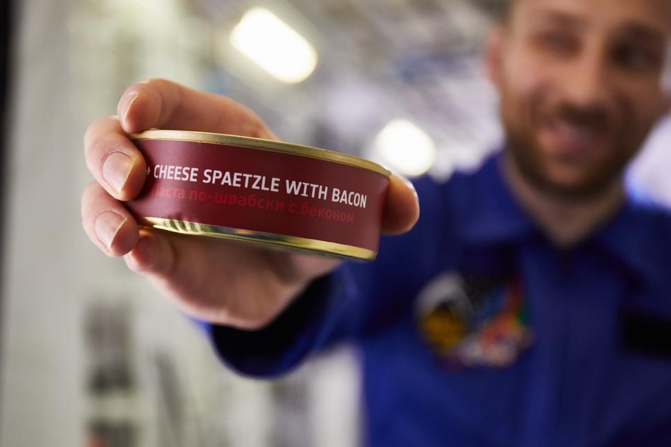 cenar como un astronauta en Lufthansa