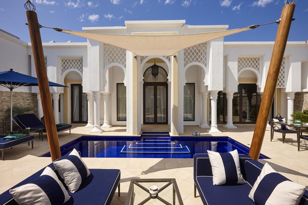 Se trata del único hotel de la bahía de Tamuda en el que cada villa tiene su piscina privada. En la foto, piscina de una villa Bliss Pool.