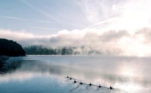 Lago Carters de los montes Apalaches en Georgia.