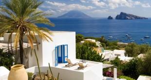 Una de las casas encaladas de la isla siciliana.