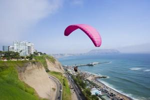 Parapente en Lima. Foto: Carlos Ibarra