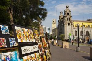 Parque Central de Miraflores. Foto: Fernando López