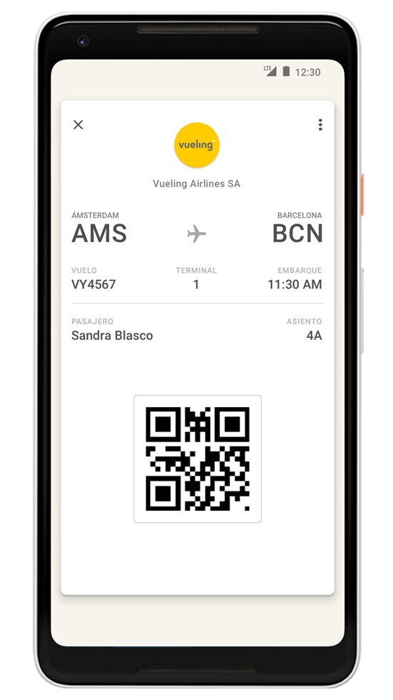 VUELING Google Pay