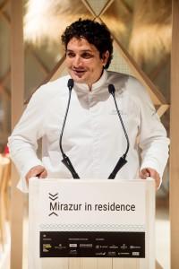 El chef Mauro Colagreco durante la presentación en Madrid.