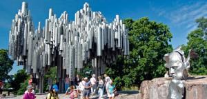 Monumento en Helsinki dedicado al compositor finlandés Sibelius.
