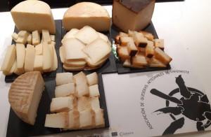 Degustación de productos de la isla, los quesos de Asociación de Queserías Artesanales de Lanzarote. Foto: Saborea Lanzarote.