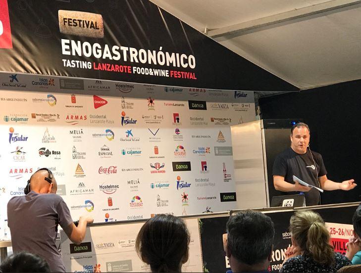 El cocinero gaditano Ángel León en la edición 2017.