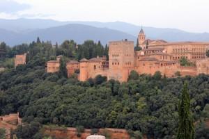 Otra vista de La Alhambra desde el Mirador de San Nicolás.