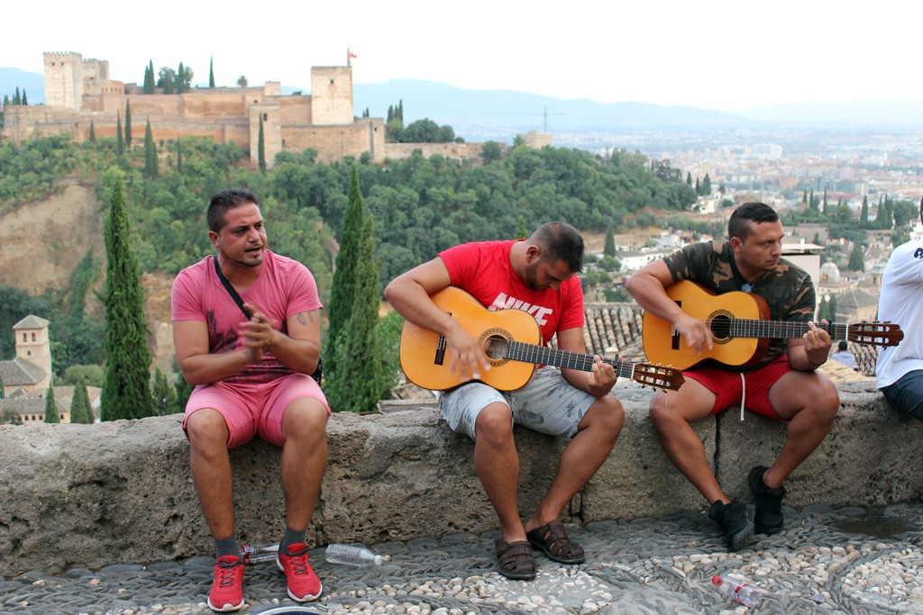 Los flamencos del Albaicín.