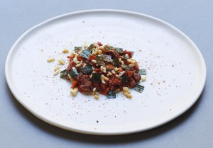 Tartare de carne Hereford con togarashi, en Two Lights. Foto: David Oldham para Two Lights.