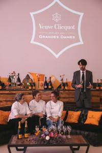 Las tres chefs y equipo Veuve Clicquot.