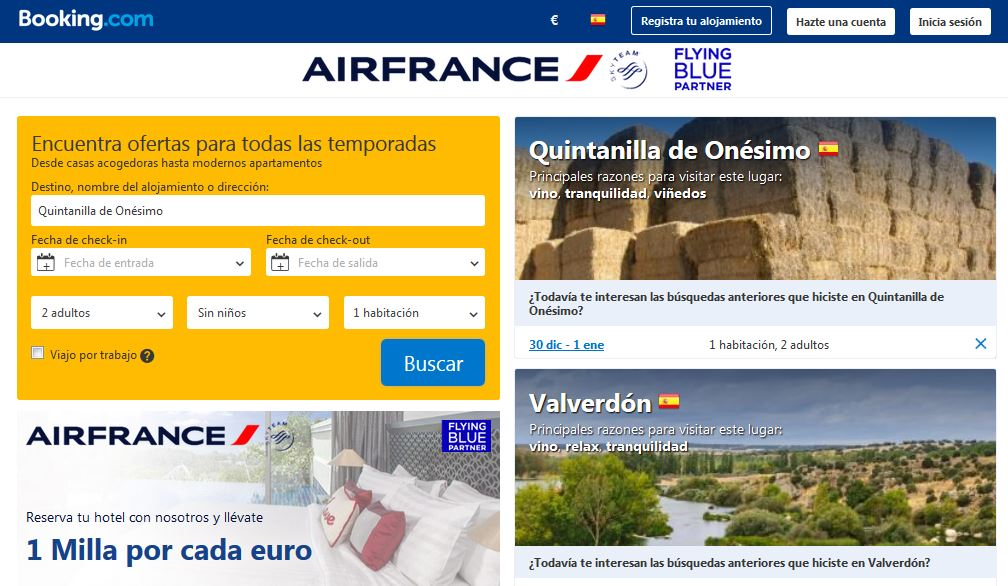 air france y booking