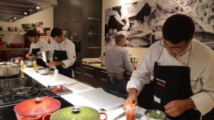 Los cocineros conejeros durante la presentación. Foto: Saborea Lanzarote.