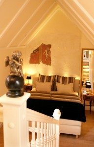 La única habitación del hotel Eh'haeusl en Ambreng, Baviera.