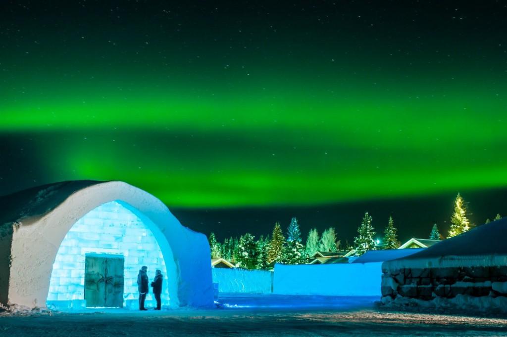 El Ice Hotel tiene que ser reconstruido cada invierno.