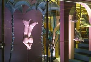 La galería acristalada de Santceloni se viste con el arte de la escultora Elisabeth Martín.