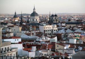 Vistas a Madrid desde el Cóctel Bar del Emperador.