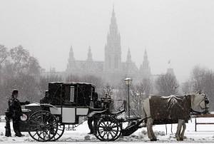 En Viena no falta un paseo en coche de caballos.