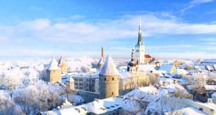 El contro histórico de Tallin, en Estonia.
