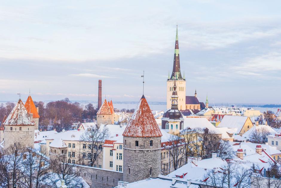 La ciudad medieval de Tallin.
