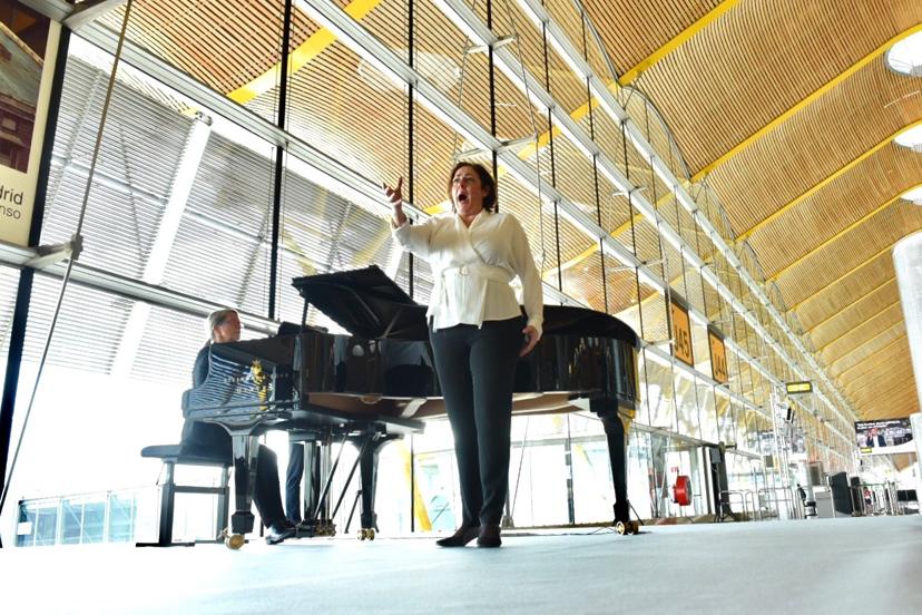 Este concierto abre la temporada de conciertos que se van a llevar a cabo en varios aeropuertos españoles en 2019.