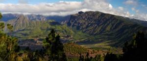 El parque nacional de la Caldera de Taburiente de La Palma.