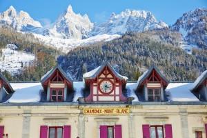 Chamonix y sus bellos edificios.