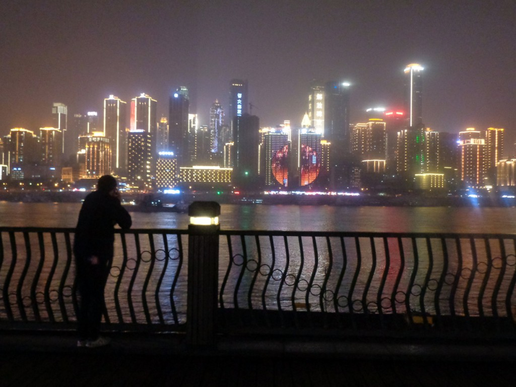 La Chongqing moderna a orillas del Yangtze y el Jialing.