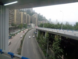 El metro aéreo de la urbe.