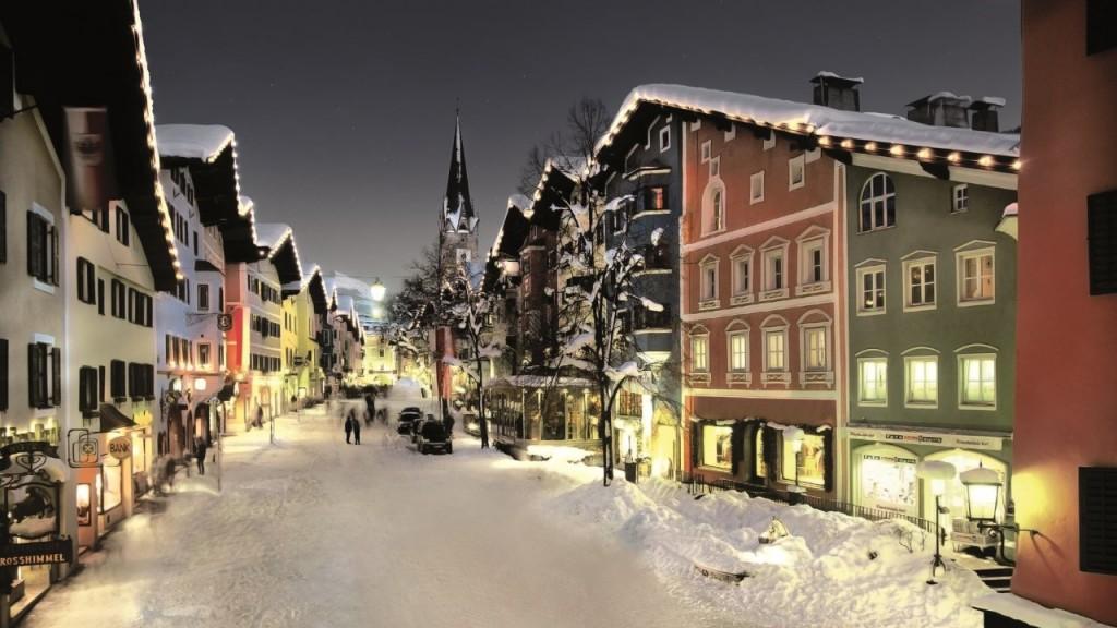 La encantadora ciudad de Kitzbühel.