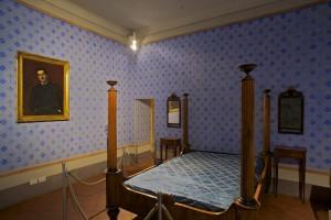 Habitación de la casa-museo de Puccini.