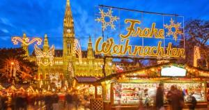 Viena, al calor de las luces navideñas.