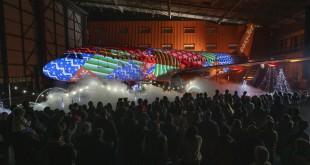Se han utilizado Más de 850.000 secuencias de luz coreografiadas y casi 2,5 kilómetros de microbombillas LED.