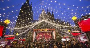 Escapada al mundo navideño de Budapest, Viena, Colonia y Bruselas. En la foto, el mercadillo de la catedral de Colonia.