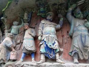 Unas 50.000 figuras talladas y coloreadas reúne el parque de Dazu.