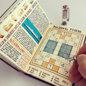 Para José Naranja, los cuadernos son como maestros.