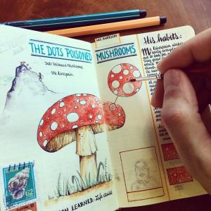 Dejaba constancia de sus destinos en pequeños cuadernos de viaje, que atesoraba como si fueran rescoldos de sus emociones viajeras.