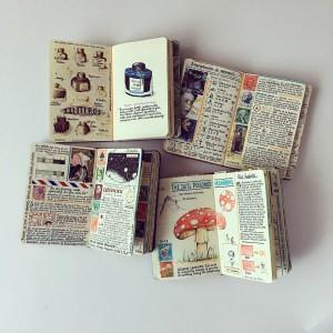 También es seguidor de Peter Beard, del artista estadounidense de fascinantes cuadernos y diarios.